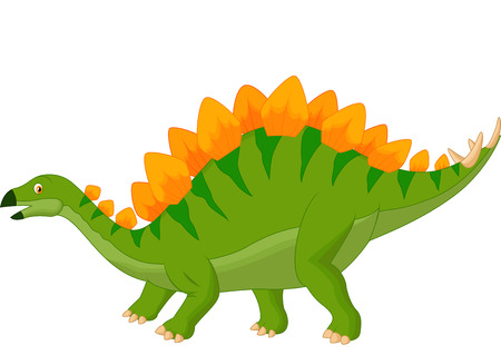 Cartoon stegosaurus  Vector