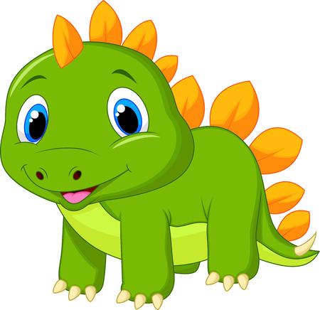 stegosaurus: Lindo beb� de dibujos animados estegosaurio