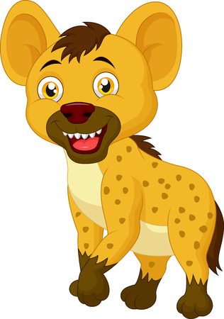 hyena: Cute hyena cartoon Illustration