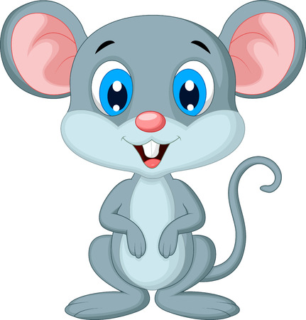 mouse: Cute mouse cartoon Illustration
