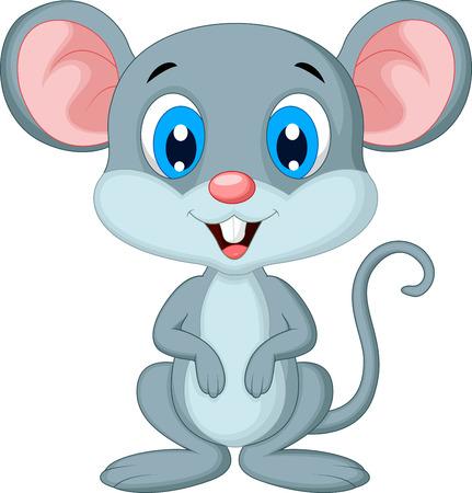 mouse animal: Cute mouse cartoon Illustration