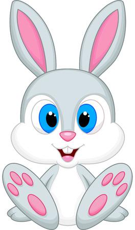 Bebé lindo conejo de dibujos animados