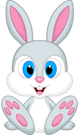 Cute baby rabbit cartoon Ilustrace