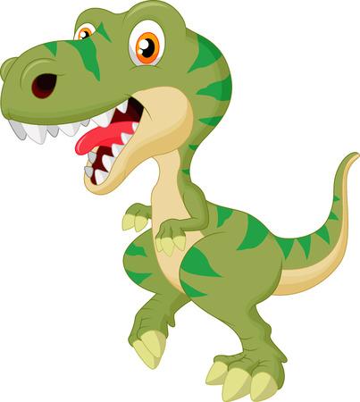 jurassic: Cute tyrannosaurus cartoon