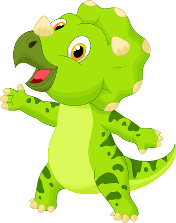 triceratops: Cute baby triceratops cartoon