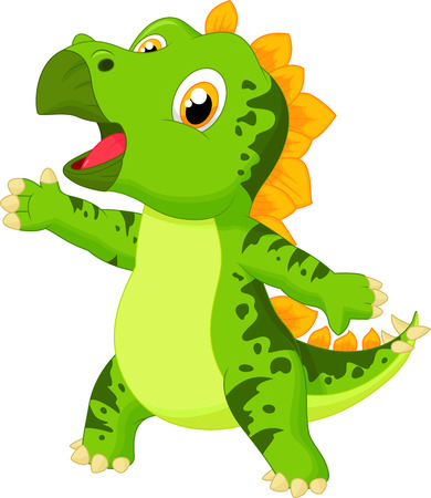 stegosaurus: Cute baby stegosaurus cartoon Illustration