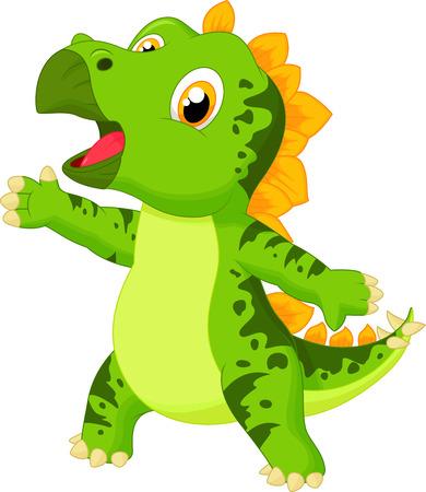 stegosaurus: Lindo bebé de dibujos animados estegosaurio