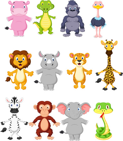 Wild animal cartoon Stock fotó - 27648844