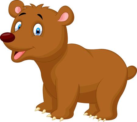 Cute brown bear cartoon  Vector