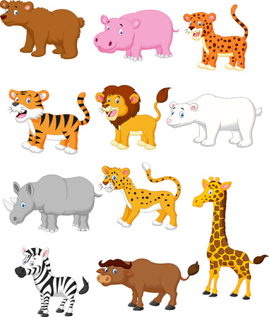 Wild animal cartoon  Ilustracja