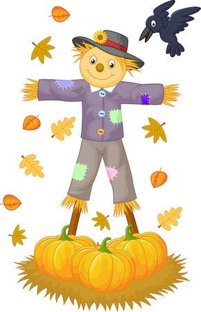 autumn scarecrow: Scarecrow cartoon  Illustration