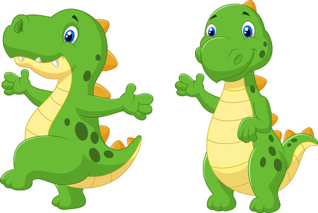prehistoric animals: Cute dinosaur cartoon