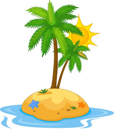 island cartoon: Tropical island cartoon