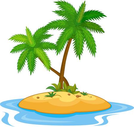 stranded: Tropical island cartoon