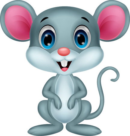 funny: Cute mouse cartoon  Illustration