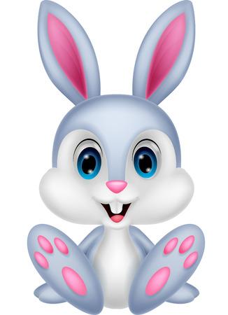 lapin blanc: Bébé mignon de bande dessinée de lapin