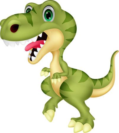 Cute tyrannosaurus cartoon  Vector