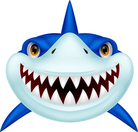 cartoon shark: Shark head cartoon