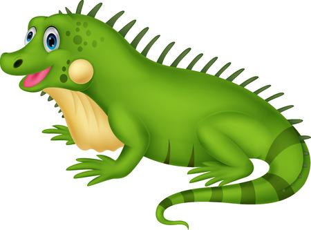 spines: Cute iguana cartoon