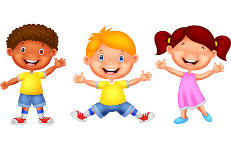 Happy kid cartoon Vector