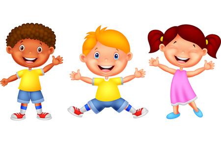 teenage boy: Happy kid cartoon