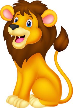 cartoon lion: Lion Cartoon sitting