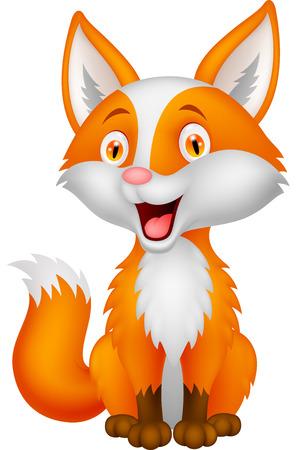 red fox: Cute fox cartoon