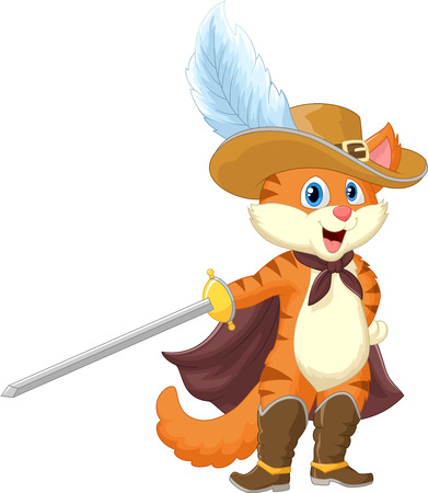 cute fairy: Cartoon Cat in boots