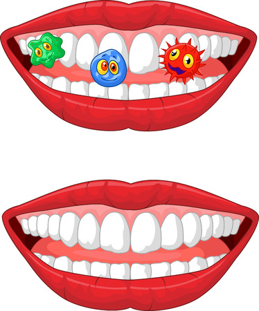 mouth cavity: Smiling lip cartoon