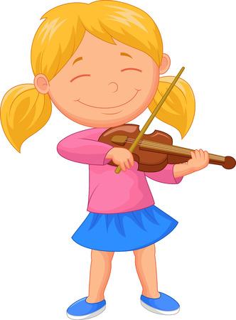 violinista: Niña de dibujos animados de juego violín