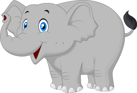 Happy elephant cartoon  Illustration