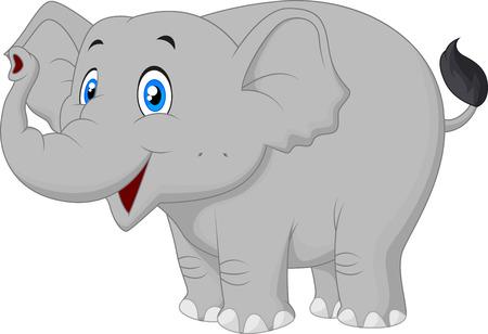 Happy elephant cartoon  Ilustração