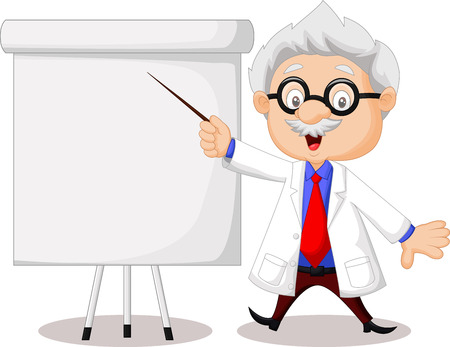 Professor cartoon teaching Ilustrace