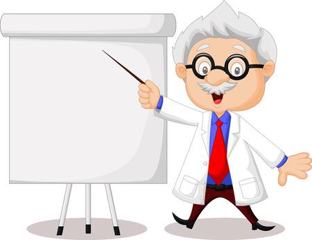 Professor cartoon teaching Illustration