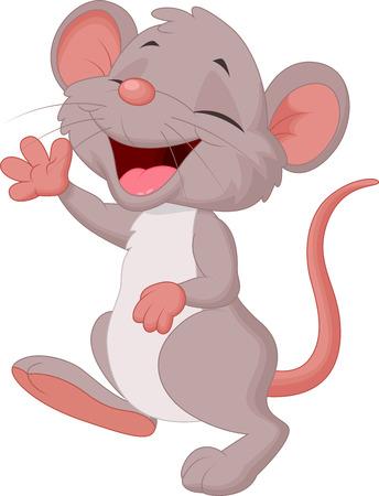 mano cartoon: Mouse sveglio del fumetto in posa Vettoriali