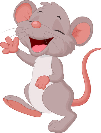 Cute mouse cartoon posing