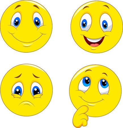 face expressions: De dibujos animados de diferentes expresiones de la cara