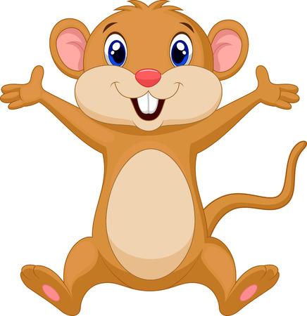 mouse: Cute mouse cartoon Illustration