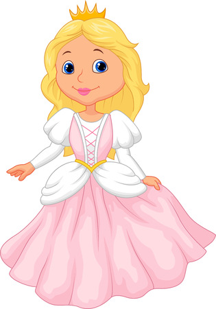 aschenputtel: Niedliche Prinzessin-Cartoon Illustration