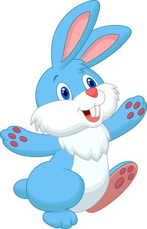 Bande dessinée heureuse de lapin Banque d'images - 27656974