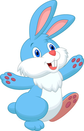 rabbit: Happy rabbit cartoon