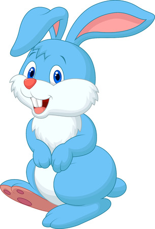 rabbit standing: Cute rabbit cartoon  Illustration