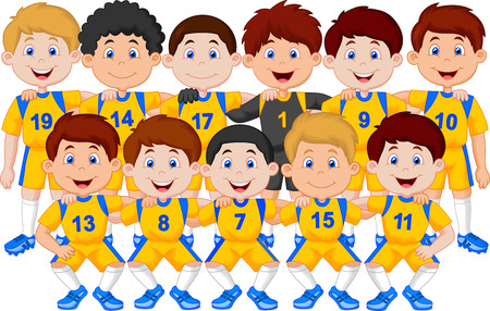 lineup: Football team cartoon