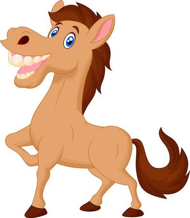 smirk: Happy horse cartoon  Illustration