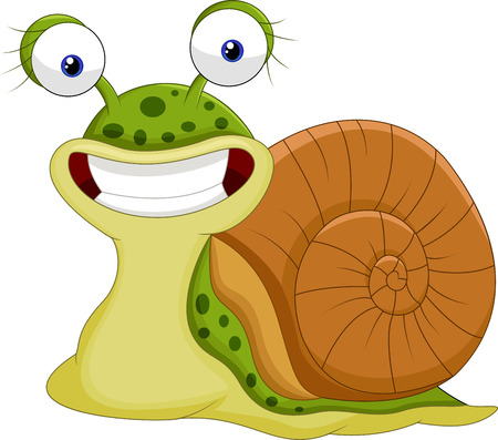 slippery: Cute snail cartoon
