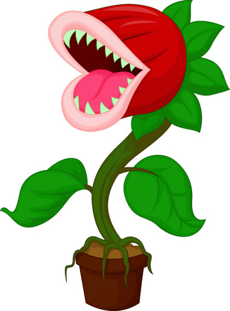 Carnivorous plant cartoon Illustration