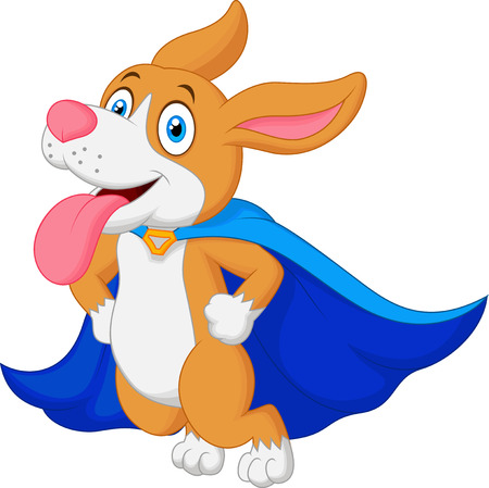 super dog: Cartoon Super Hero Dog Flying
