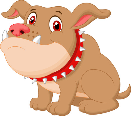 Cute bulldog cartoon  Vector