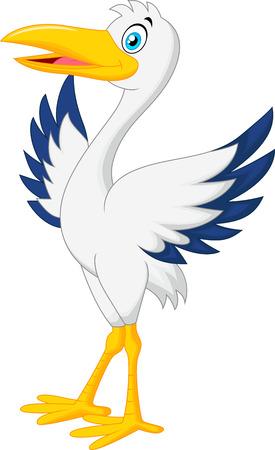 귀여운 황새 만화 포즈