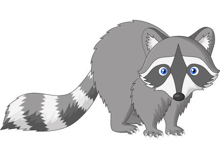 curious: Cute raccoon cartoon Illustration